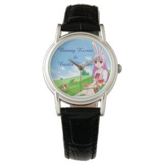 Reloj Los besos y Pascua del conejito desea (el