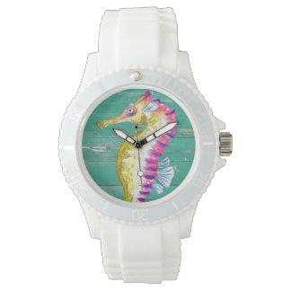Reloj madera del trullo del seahorse