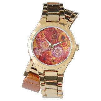 Reloj Margaritas candentes ricas del ramo brillante
