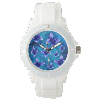 Reloj Mariposas azules del verano, deportes