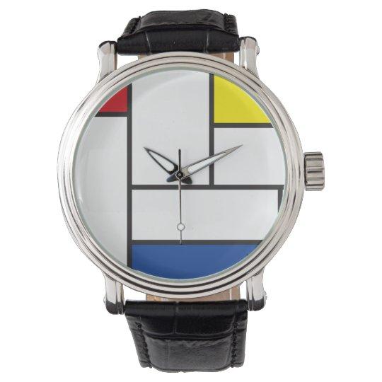 Reloj minimalista del arte moderno de Piet