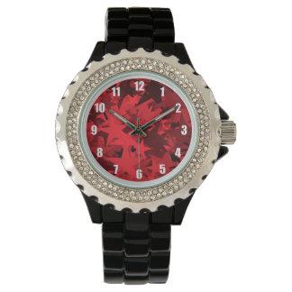 Reloj modelado estrella roja