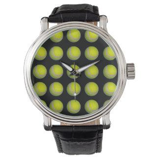 Reloj Modelo amarillo y negro de la pelota de tenis,