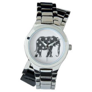 Reloj Modelo de estrella fresco de la silueta negra del