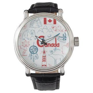 Reloj Modelo de los símbolos de Canadá el |