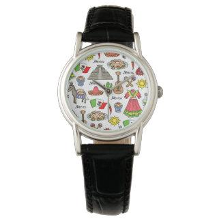 Reloj Modelo de los símbolos de México el |