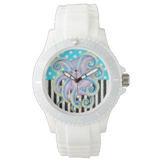 Reloj Modelo del azul del pulpo