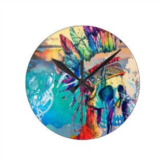 Reloj moderno del jefe del arco iris