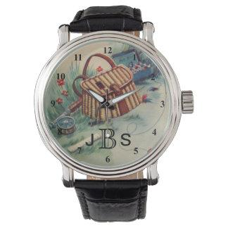 Reloj Monograma masculino del pescador el | de la pesca