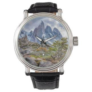 Reloj Montañas Nevado en el EL Chalten Argenti de Laguna