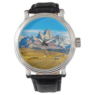 Reloj Montañas Nevado los Andes, EL Chalten, la