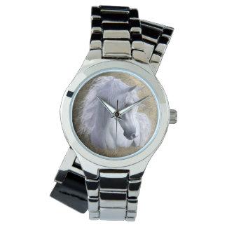 Reloj Mujeres árabes del acero inoxidable del caballo,