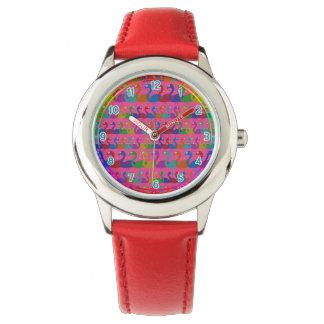 Reloj multicolor del flamenco