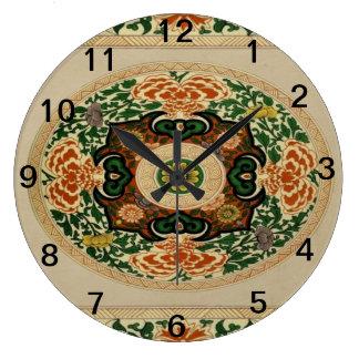 Reloj multicolor floral del acrílico del modelo de