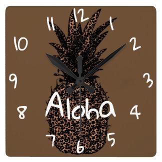 reloj mural cuadrado Piña