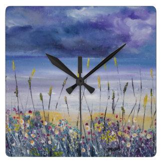 Reloj náutico del paisaje marino de la playa