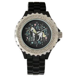 Reloj Negro caprichoso del unicornio