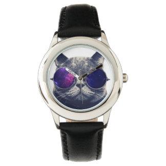 Reloj Negro de encargo del acero inoxidable