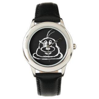 Reloj negro del acero inoxidable del 鲍鲍