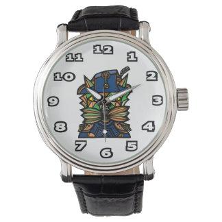 """Reloj negro del cuero del vintage de """"Napoleon"""