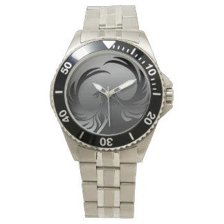 Reloj negro y gris del acero inoxidable de Phoenix