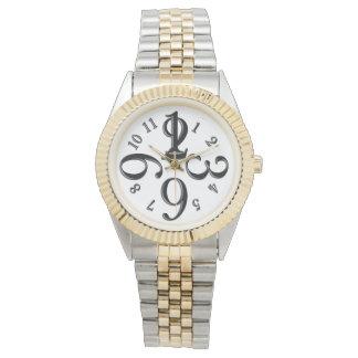 Reloj Número blanco