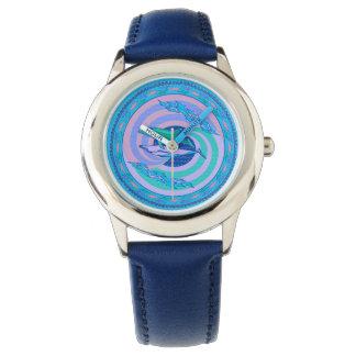 Reloj Ondas del diseño de los colores en colores pastel