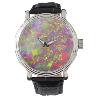 Reloj Ópalo del brasilen@o del arco iris de Falln