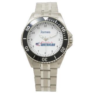 Reloj Orgulloso ser un americano