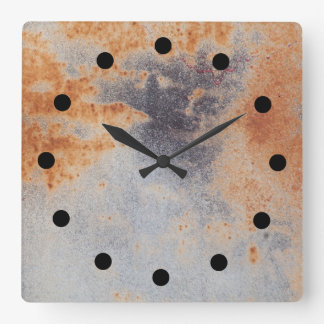 Reloj oxidado del grunge