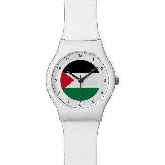 Reloj palestino de la bandera