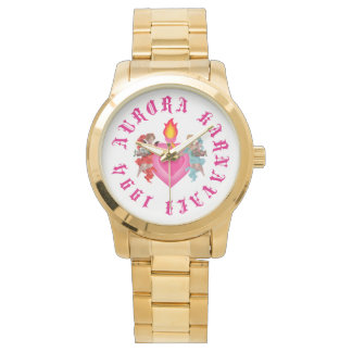 Reloj para mujer de Karnavali de la aurora del oro