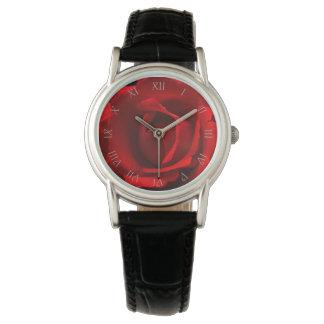 Reloj para mujer de los números romanos grises de