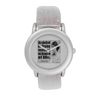 Reloj para mujer del redoble de tambor fantasmal