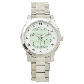 Reloj Partitura verde