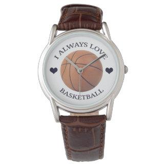 Reloj pasión del deporte del amor del baloncesto