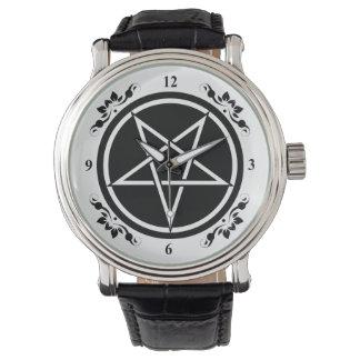 Reloj Pentagram invertido