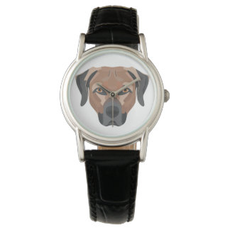 Reloj Perro Brown Labrador del ilustracion