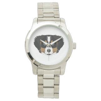 Reloj Perro de montaña de Bernese del ilustracion