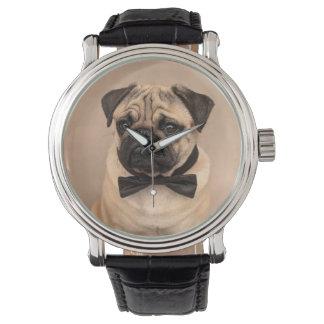 Reloj Perro del barro amasado del cervatillo con la