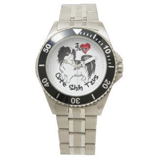 Reloj Perro divertido y lindo adorable feliz de Shih Tzu