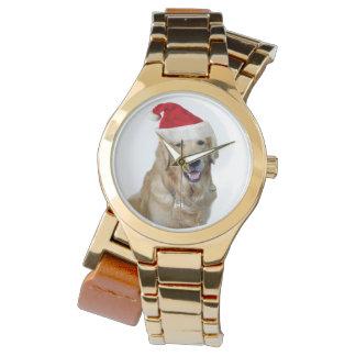 Reloj Perro-mascota de Labrador navidad-santa Claus
