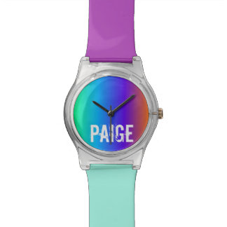 Reloj personalizado arco iris