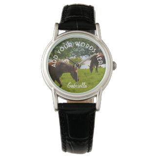 Reloj personalizado del caballo