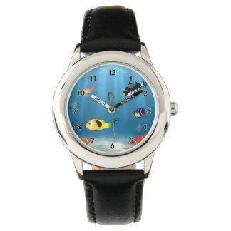 Reloj Pescados en el océano