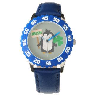 Reloj Pingüino irlandés con el trébol Zjib4