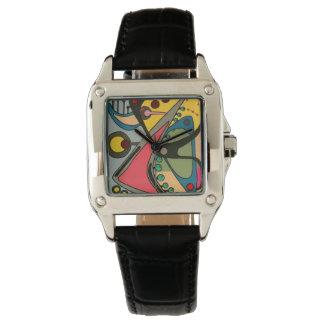 Reloj Pintura abstracta del hombre de los mediados de