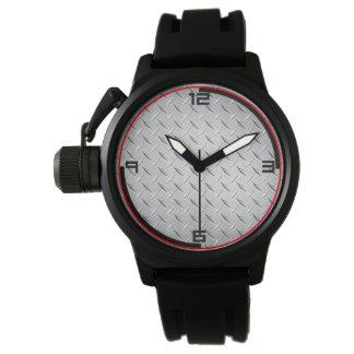 Reloj Placa de metal del diamante
