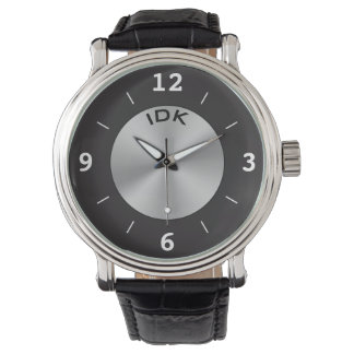 Reloj Plata y negro de la OBRA CLÁSICA el | del