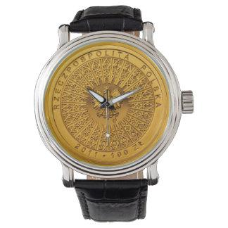 Reloj polaco de la moneda de 100 Zł